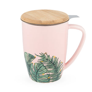 Tropical Ceramic Tea Mug