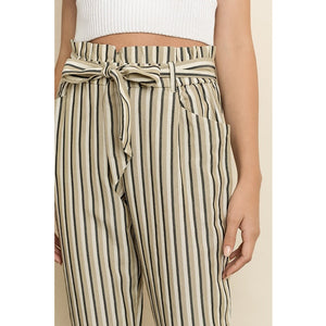 Striped Cigarette Pants