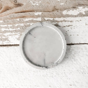 Marble Concrete Circle Tray