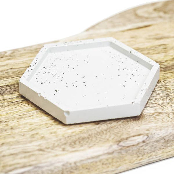 Concrete Hexagon Tray