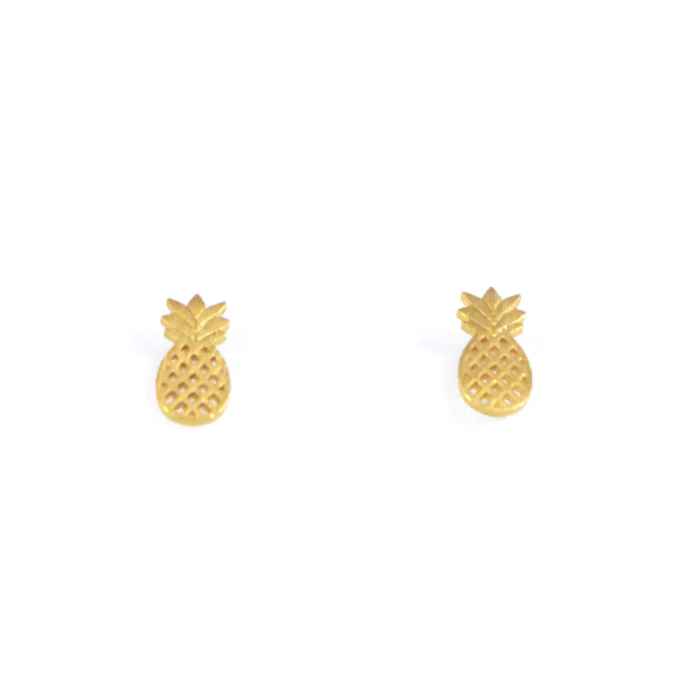 sterling dipped open pineapple gold earrings silver dogeared stud studs