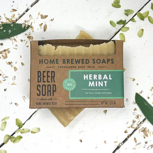Herbal Mint Beer Soap