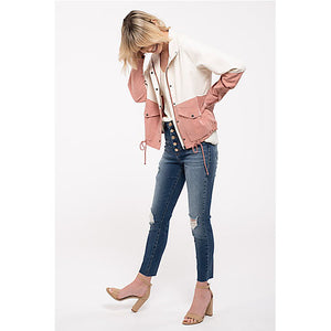Two Toned Good Crop Jacket