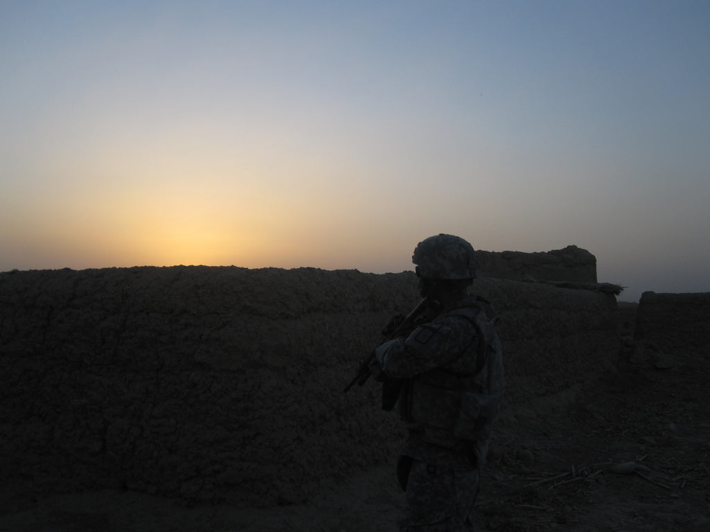 Patrick on patrol in Afghanistan
