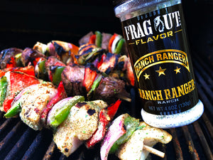Ranch Ranger shish kabobs on grill