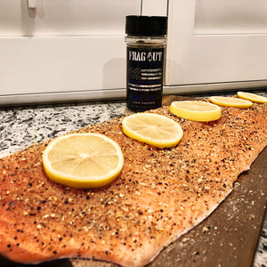 Blue Line seasoned salmon with lemons