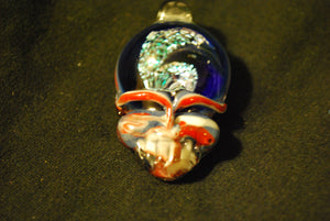 Lucky Glass Stealy Pendant Double Sided RWB