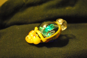 Lucky Glass Stealy Pendant Bright Yellow