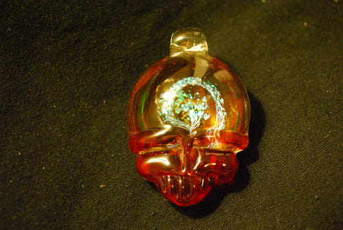 Lucky Glass Stealy Pendant Burnt Red