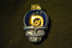 Lucky Glass Stealy Blue Pendant