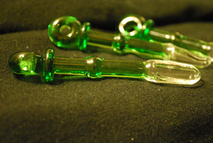 Green Glass Spoon Pendant by Sebastian