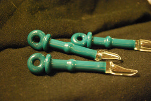 Teal Glass Spoon Pendant by Sebastian