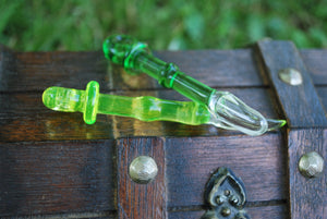 Lime Glass Spoon Pendant by Sebastian