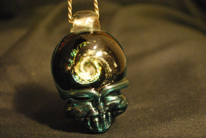 Lucky Glass Stealy Pendant Darkside of Blue