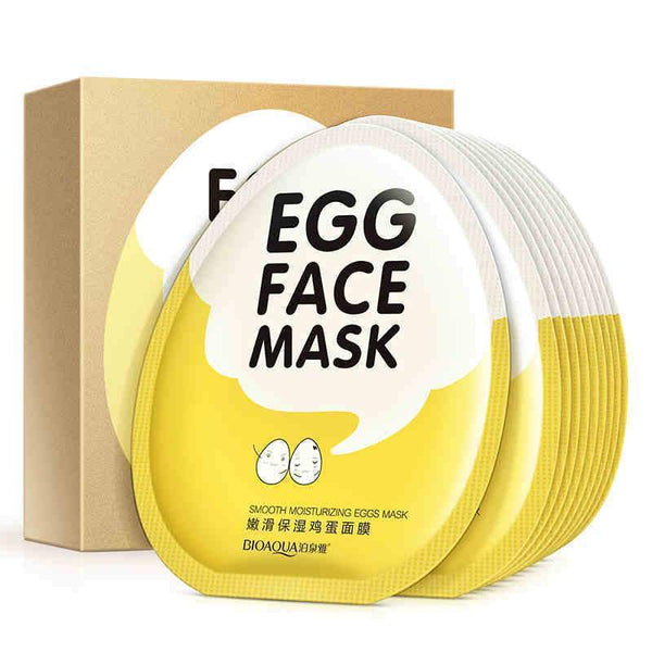 5 Pcs High Quality Amazing Egg Face Mask [30g] - Facial World
