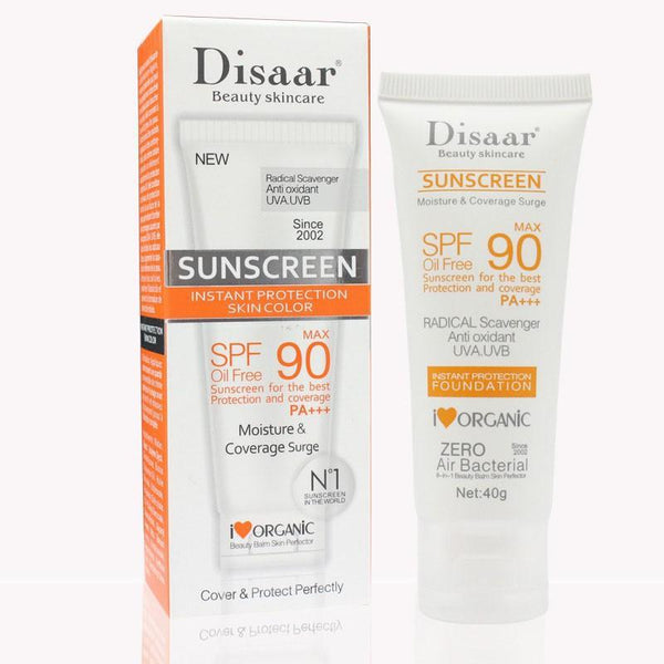 2 Pcs Best 90 spf PA+++ facial sunscreen for women with uv radiation and sun protective