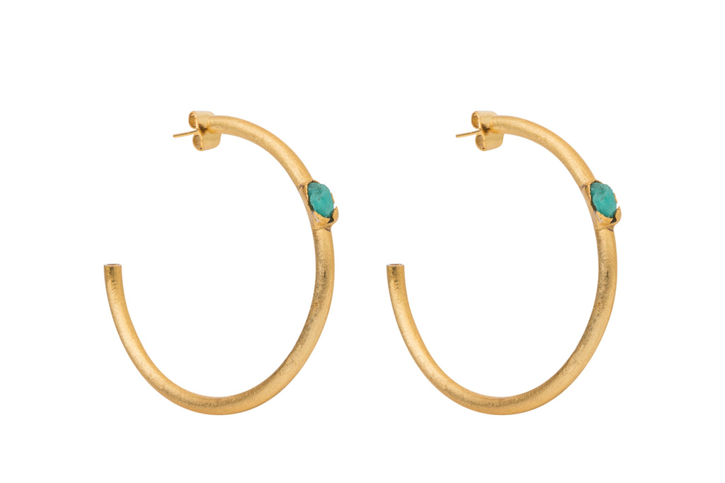 ARETES FRONT STONE TUBE HOOPS