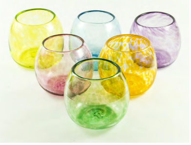 COPA DE VINO - WINE GLASS MULTICOLOR 6 PACK