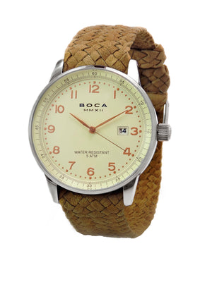 Grand Traveler Beige Beige - Camel Wristband - BOCA MMXII - Official website