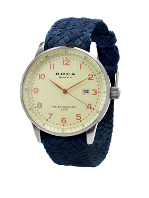 Grand Traveler Beige Beige - Night Blue Wristband - BOCA MMXII - Official website