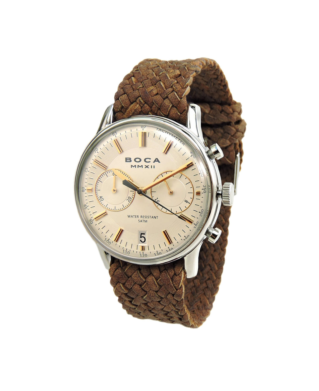 Metropole Chrono Beige with Bright Tobacco Wristband - BOCA MMXII - Official website