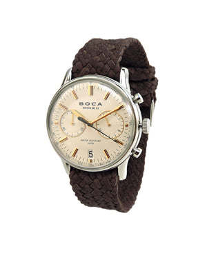 Metropole Chrono Beige with Brown Wristband - BOCA MMXII - Official website