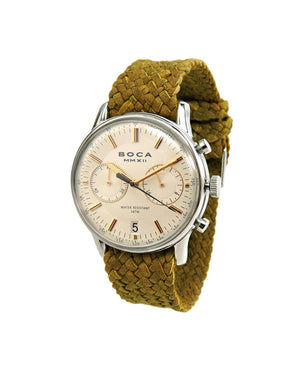 Metropole Chrono Beige with Camel Wristband - BOCA MMXII - Official website