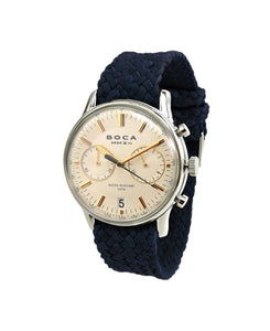 Metropole Chrono Beige with Night Blue Wristband - BOCA MMXII - Official website