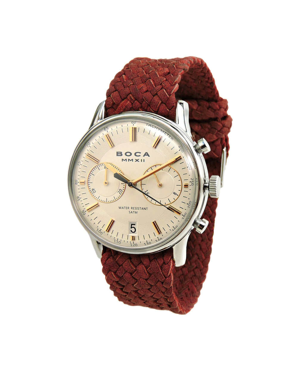 Metropole Chrono Beige with Red Wristband - BOCA MMXII - Official website