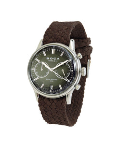 Metropole Chrono Black with Brown Wristband - BOCA MMXII - Official website