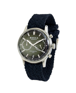 Metropole Chrono Black with Night Blue Wristband - BOCA MMXII - Official website