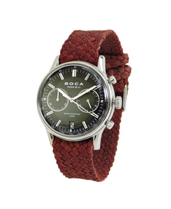 Metropole Chrono Black with Red Wristband - BOCA MMXII - Official website