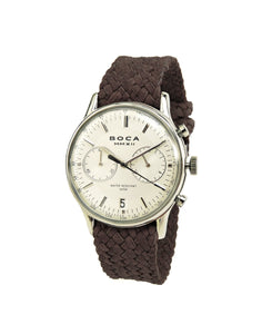 Metropole Chrono Silver with Brown Wristband - BOCA MMXII - Official website