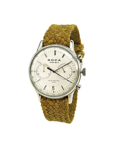 Metropole Chrono Silver with Camel Wristband - BOCA MMXII - Official website