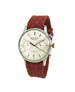 Metropole Chrono Silver with Red Wristband - BOCA MMXII - Official website