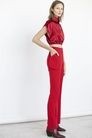 RED POCKET TROUSERS