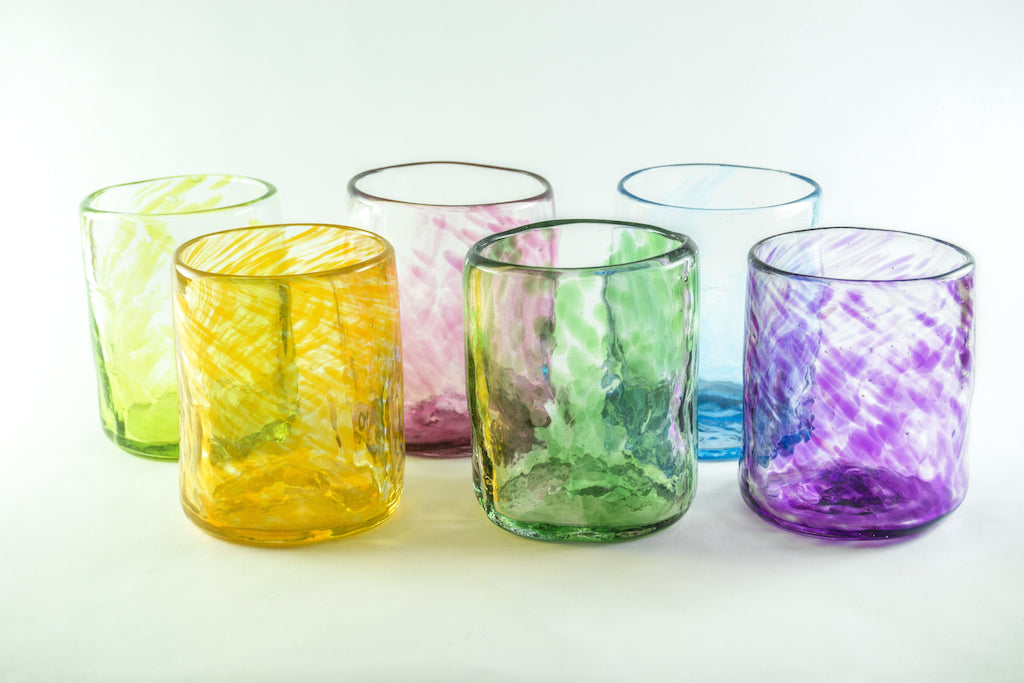 VASO MEDIANO - MEDIUM GLASS MULTICOLOR