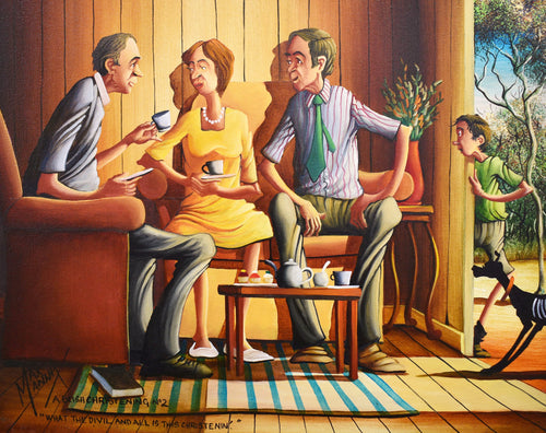 Max Mannix Painting - A Bush Christening No2