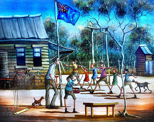 Max Mannix Painting - Raising The Flag Every Monday Morning