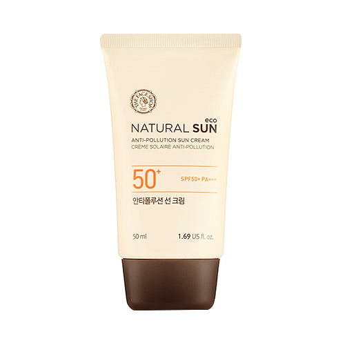 Protetor Solar Natural Sun Eco Anti Pollution Sun Cream - The Face Shop