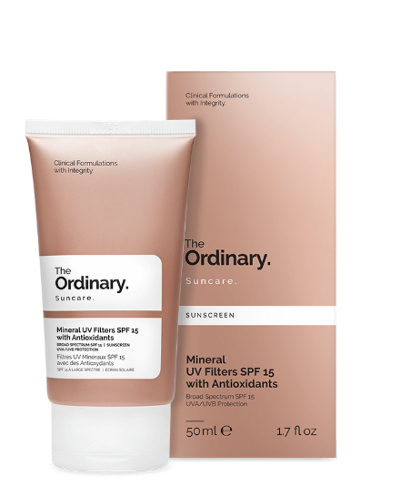 Protetor Solar Mineral UV Filters SPF 15 with Antioxidants - The ordinary