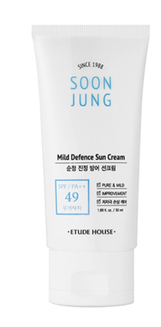 Protetor Soon Jung Mild Defence Sun Cream - Etude House