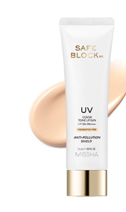 Protetor Safe Block RX Cover Up Sun SPF50+ PA++++ - Missha