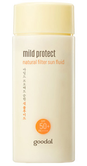 Protetor Mild Protect Natural Filter Sun Fluid - SPF50+ PA++++ - Goodal