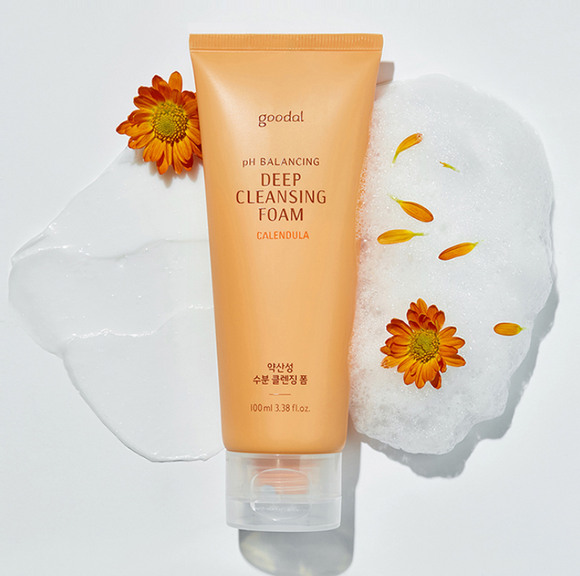 Sabonete Facial  Calendula pH Balancing Deep Cleansing Foam - Goodal