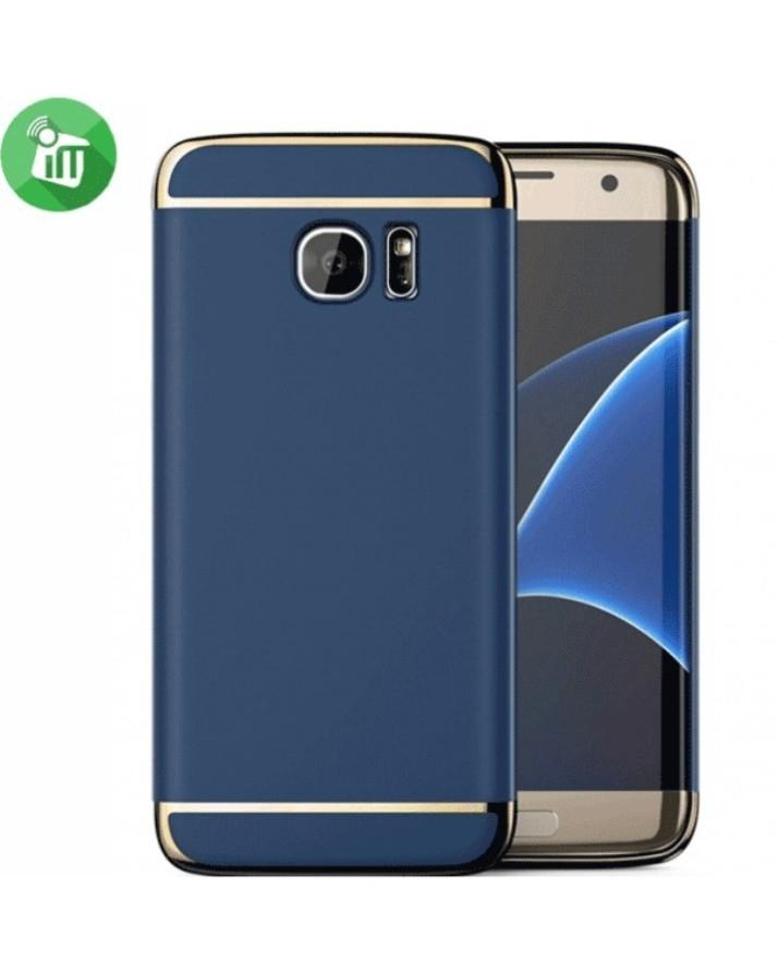 meet 57039 4a109 iPaky 3 in 1 Case For Samsung Galaxy S7 Edge - Blue
