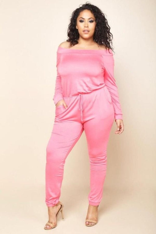 Mauve Plus Size Jumpsuit