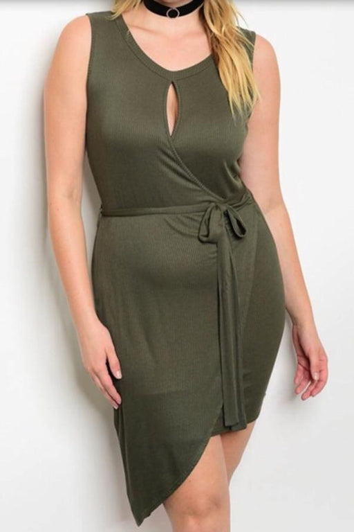Plus Size Olive Green Dress