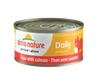 Almo Nature Cat HQS Daily Tuna Salmon 24 Cans 2.47 oz 70 g Each