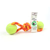Shifting Gears - MADE IN USA, 2-Ball Toss & Tug Toy, Recycled tennis ball & rock climbing rope